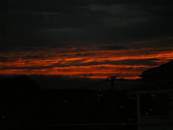 夏の日没.JPG